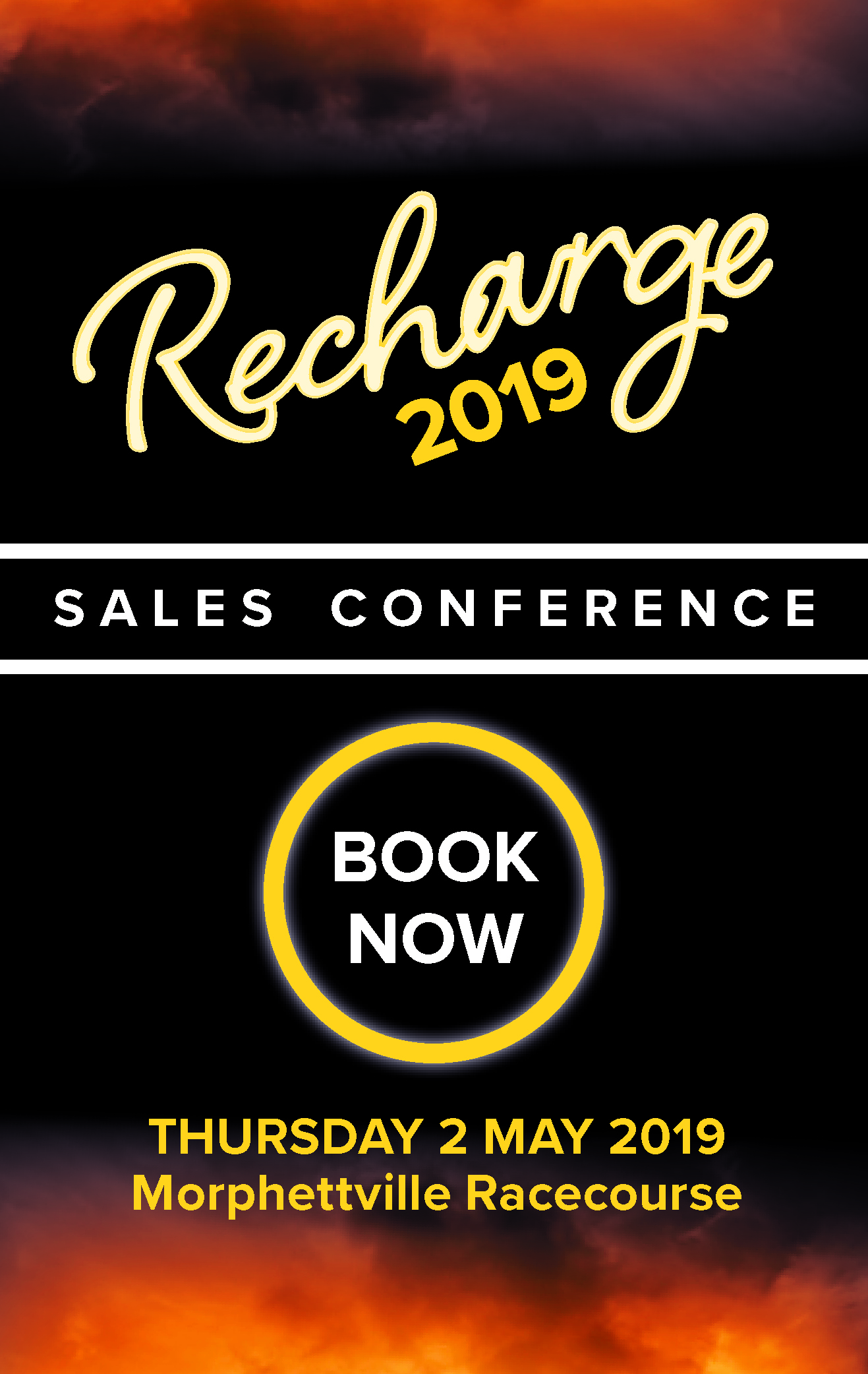 Sales Conference Book Now - Side Banner